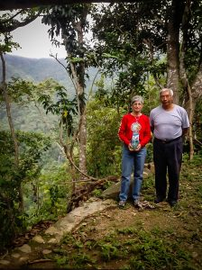 Sue McGovern Downward, Director General of The Cabo Coffee Company, visiting Alejandro, our grower, in Oaxaca.